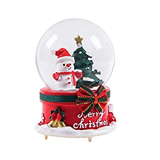 LiKuLi Fu Shi Globo de Nieve de Navidad Navidad Santa Claus Caja de música Bola de Cristal Creativo decoración del hogar de Navidad