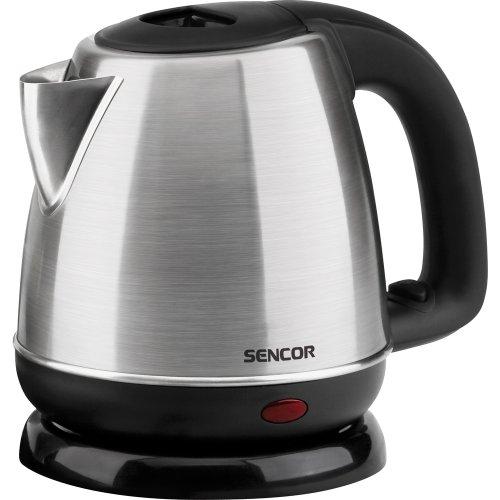 Sencor SWK 1031SS - Tetera eléctrica para té caliente, 2000 W, 1 litro, color negro y gris