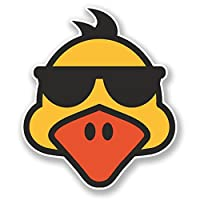 2 x Cool Duck Vinyl Sticker Decal Laptop Travel Luggage Car iPad Sign Fun #6589