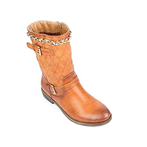 Ideal Shoes ,  Stivali donna Marrone (Cammello)
