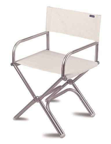 FORMA MARINE klappbarer Deckstuhl der Luxusklasse Astron ; weisses Vinyl in Marineausführung, Modell A6000VW (Marine-camping-stuhl)