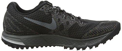 Nike Air Zoom Wildhorse 3, Chaussures de Running Entrainement Homme Gris (Schwarz/ Dunkelgrau - Wolf Grau - Cool Grau)