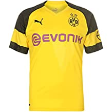 Puma BVB Home Shirt Replica Evonik with Opel Logo Jersey, Hombre, Cyber Yellow,