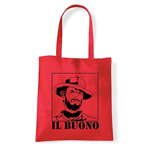 Art T-shirt, Borsa Shoulder eastwood-il-buono Rosso