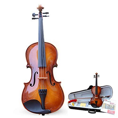 YuYzHanG Violino Suite in Legno Fatti A Mano Violino Abete Naturale di Full-Size Suono High-Gloss di Un Caso Duro di Violino Arco Colofonia for Studenti Principianti 4/4,3/4,1/2,1/4,1/8,1/10,1/16