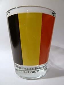 Belgium Flag Shot Glass by World By Shotglass