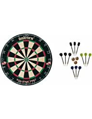 Unicorn Eclipse Pro Dartboard + McDart Steeldarts