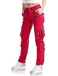 3ccd299a8b OCHENTA Mujer Uniform Combat Cargo para 8 Bolsillos de Seguridad Pantalones  Etiqueta 28-38