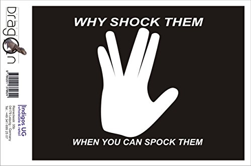 T-Shirt Herren - Why Shock Them When You Can Spock Them Weiß
