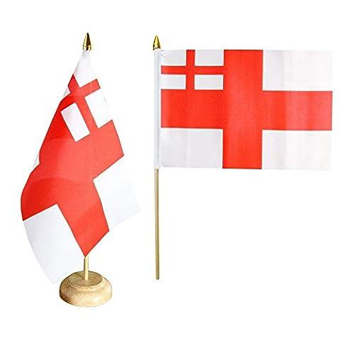 Tischflagge / Tischfahne Großbritannien White Ensign 1702-1707 + gratis Aufkleber, Flaggenfritze®