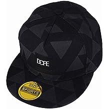 Yohope - Estilosa gorra unisex de tamaño ajustable - Gorra de béisbol - Gorra con cierre trasero - Gorra para el sol - Gorra para conductor de camión, senderismo, Hip Hop..., Black Geometric patterns