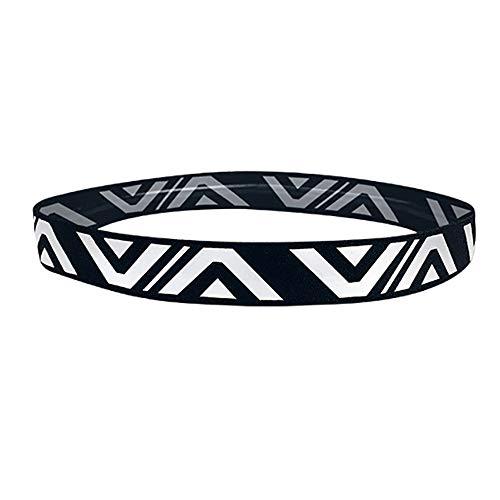 Unisex Sportschweißband 2 PCS-Frauen-Leichtgewichtler-Sport-Stirnband No-slip Schweiß-Band für Männer-Stretchy Haarbänder Headwear - Bestes für das Laufen radfahren heißen Yoga und athletische ()