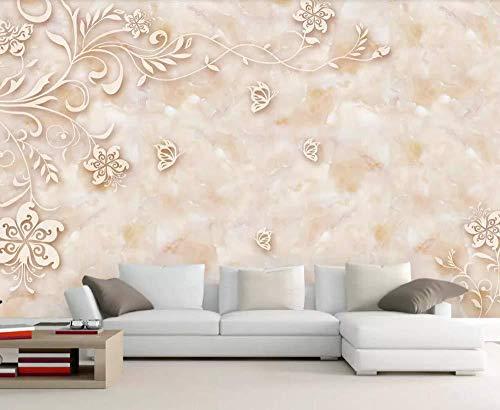 Tapete 3D-Wandbild Wandbild Steinmuster Marmorfliesen 3D-Wandbild Wandbild Wohnzimmer Sofa TV Wand Schlafzimmer Tapete(W)300x(H)210cm