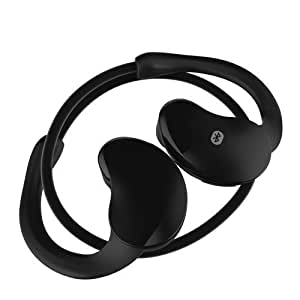 Kool(TM) Black AX-663 Sports Running Bluetooth 4.0 Headphones In-Ear Earphones with Microphone Noise Cancellation for Jogging / Exercise / Fitness / iPhone 5 5s, iPhone 4 / Samsung Galaxy S5 S4 S3 / iPad Air, iPad 4/3/2 / HTC One M7 M8 / Google Nexus / Sony Xperia / Mobile Phones / PDA / Tablets 2014 Version (Black)
