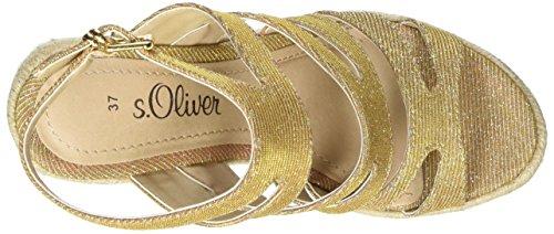 s.Oliver 28312, Sandales Bout Ouvert Femme Rose (ROSE 544)