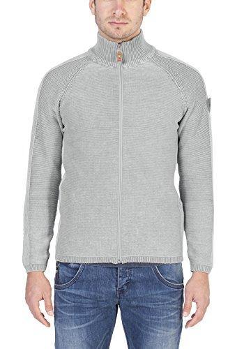 Timezone Herren Strickjacke Zip Jacket Vintage Grau (Light Grey 2098)