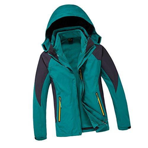 non-brand-Sharplace-Giacca-Uomo-2-In-1-Con-Fodera-in-Pile-Vestito-per-Allaperto-Arrampicata-Blu-lago-XL