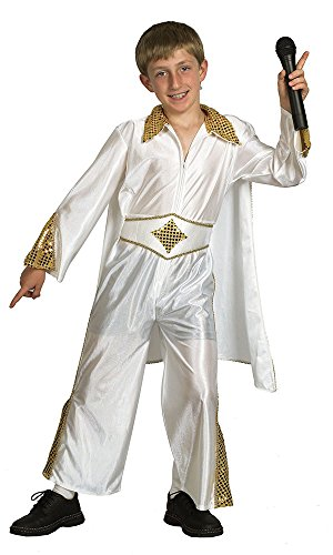 Rockstar Kostüm Kinder (Kostüm des Rockstars Elvis für Kinder im Alter von 6 - 9)