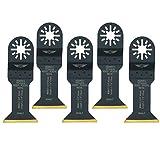 5 x Topstools UN44LT 5 44 mm Long Life Titanium beschichtete Klingen für Bosch Fein Multimaster Multitalent Makita Milwaukee Einhell Ergotools Hitachi Parkside Ryobi Workzone Worx Allzweckwerkzeug