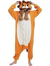 48b5a35245 Kigurumi Pijama Animal Entero Unisex para Adultos con Capucha Cosplay  Pyjamas León Ropa de Dormir Traje