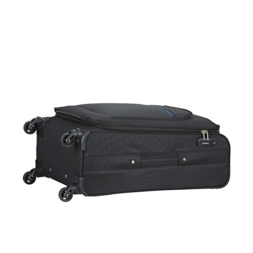 68952b39e81 ... Aristocrat Nile Polyester 66 cms Black Suitcase (STNILW66BLK) ...