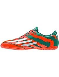adidas Messi 10.4 IN J - Botas para niño, color verde / naranja / plata