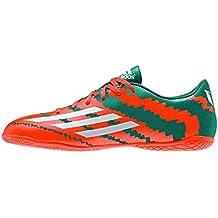 adidas Messi 10.4 IN J - Botas para hombre, color verde / naranja / plata