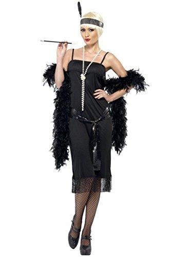 Kostüm Femme Charleston - Generique - Stilvolles Charleston-Kostüm für Damen schwarz M