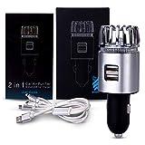 Breathe Easy Auto-Luftreiniger und Geruchsentferner mit 2 USB-Ausgängen und Papier-Lufterfrischer und 3 in 1 Ladekabel im Lieferumfang enthalten