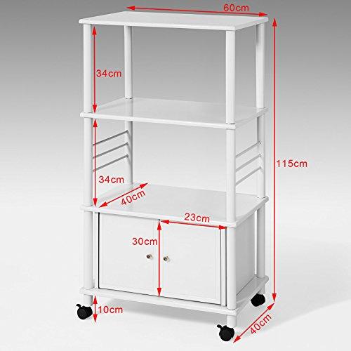 Sobuy carrito de cocina estante de cocina estante con for Carrito de cocina con ruedas