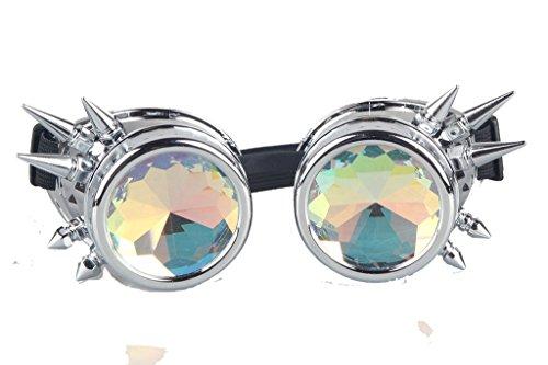 DODOING Kaleidoscope Goggles Weinlese-Art Gotische Retro Steampunk Cosplay Brille Glasses Welding Punk Brille