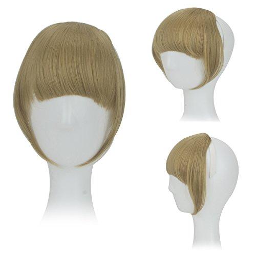 p Haar Bang Voll Franse Kurz Gerade Haarverlängerung für Damen (Ding 1 Ding 2 Perücke)