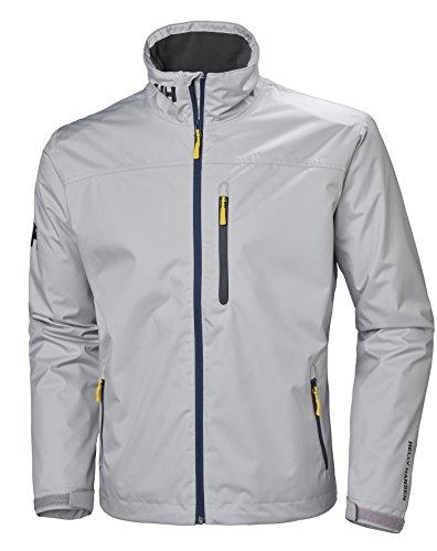 Helly Hansen Herren Crew Midlayer Jacket, Silver Grey, L