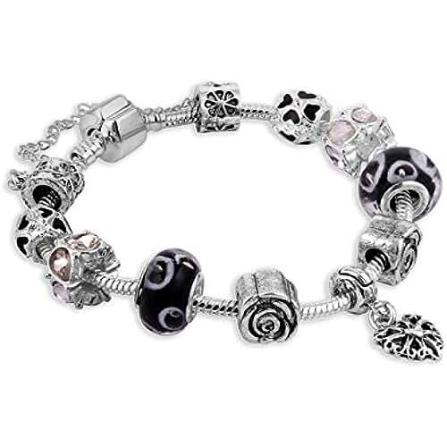 ofertas para el dia de la madre Fashionvictime - Mujer Pulsera - Style Pandora - Metal Rodiado - Cristal - Joyeria Fashion -