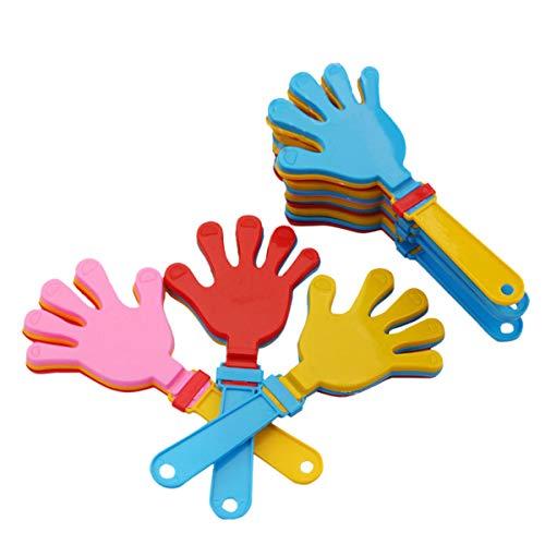 Toyvian 20 Stücke Klapperhand Klapperhand Handklatsche Krachmacher Spielzeug Kinder Mitgebsel Party Zubehör (Krachmacher-spielzeug)