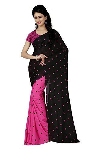 Anand Sarees Georgette Saree with Blouse Piece (1262_1_Multicoloured_Free size)