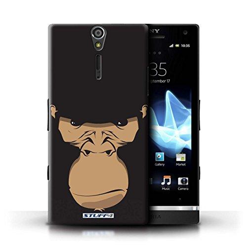 Kobalt® Imprimé Etui / Coque pour Sony Xperia S/LT26i / Cheval conception / Série Museaux Gorille/Chimpanzé/Singe