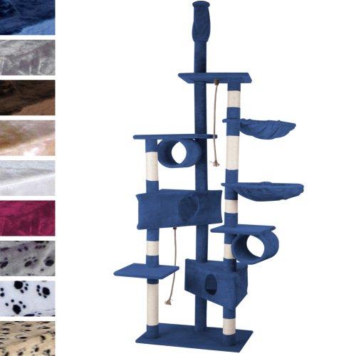 Leopet Kratzbaum für Katzen deckenhoch (höhenverstellbar) Kletterbaum mit mehreren Höhlen und Hängekörben Kratzmöbel für Katzen Katzenkratzbaum mit Kuschelmöglichkeiten mit Farbwahl