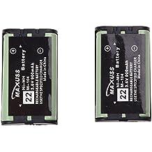SODIAL(R) 2x Bateria de Telefono Inalambrico 900mAh Ni-Mh para Panasonic HHR-P104