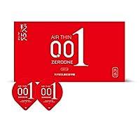 001 Condón-Hielo Cubierta De Fuego Condón Ácido Hialurónico, El Condón Más Delgado De Látex 2 Cajas (20 Paquetes),Red