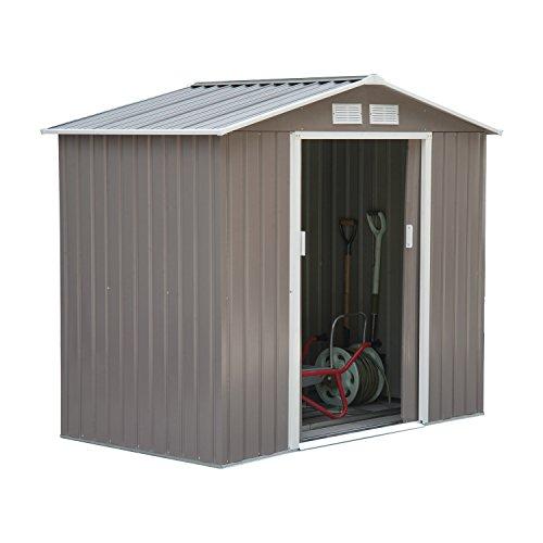 Outsunny® Gerätehaus Metall Geräteschuppen Gartenhaus Garten Schuppen (L213 x W127 x H185cm)