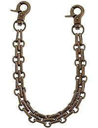 MagiDeal 25cm Long DIY Gold, Silver, Bronze Metal Replacement Purse Chains Shoulder Bag Straps for Handbags Belts Purse Handles - bronze, as described