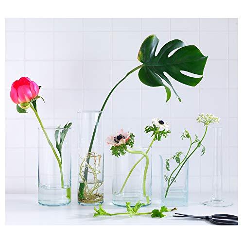 IKEA ASIA Cilindro Vaso, Set da 3, Vetro Trasparente