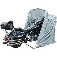 Telo di protezione pieghevole per moto e scooter, misura XL, colore: grigio.
