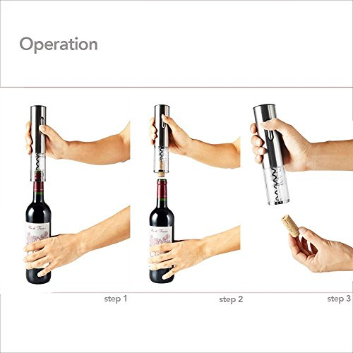 41vH5LYyd3L. SS500  - Electric Wine Opener , LOUISWARE Automatic Wine Bottle Opener With Foil Cutter and USB Charging Cable