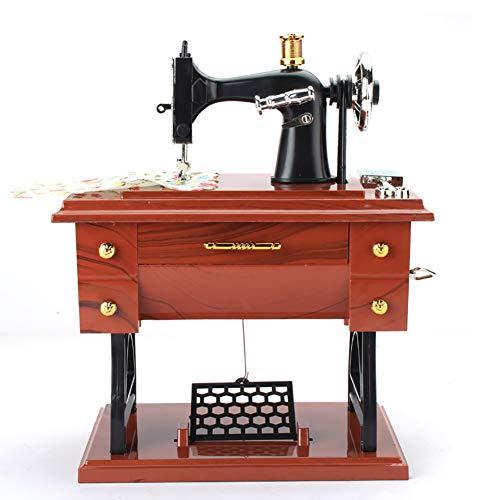 Sidiou Group Creativo clásico máquinas de coser modelo de caja de música mecánica caja de música encantadora caja de música romántica caja de música retro