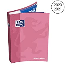 OXFORD School Agenda Scolaire Août 2020 - Sept 2021 Journalier 352 Pages Format 12x18cm Couverture Souple Rose