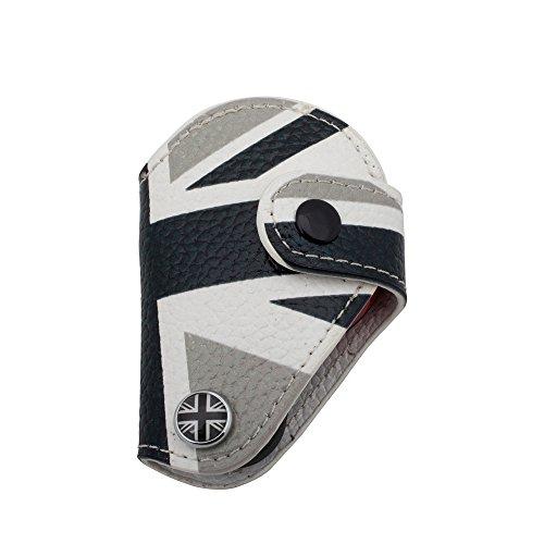Auto-mini-jack (AUTOMAN echtes Leder Fernbedienung Schlüssel Case Cover Tasche für BMW Mini Cooper R56CLUBMAN Countryman, The Decolored Union Jack)