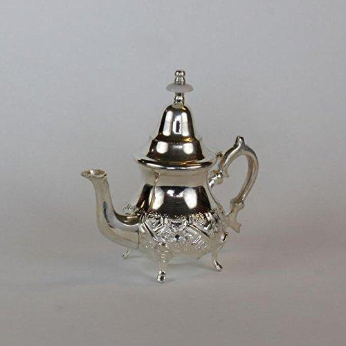 Casa Moro Marokkanische orientalische Teekanne Silberkanne Elfassi 0,25 L   Kunsthandwerk aus der...