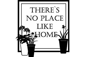 There no place like home , Home Quote Vinyl Sticker - Vinyl Sticker Wall Art Deco Decal - 50cm Height,50cm Width - Black Vinyl
